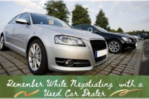 Negotiating with used car Dealers